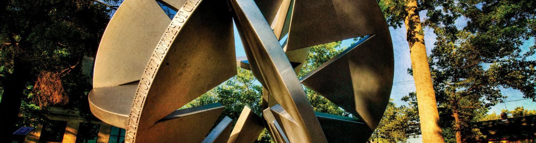 """Starsphere 2010,"" a sculpture near Franklin Hall"