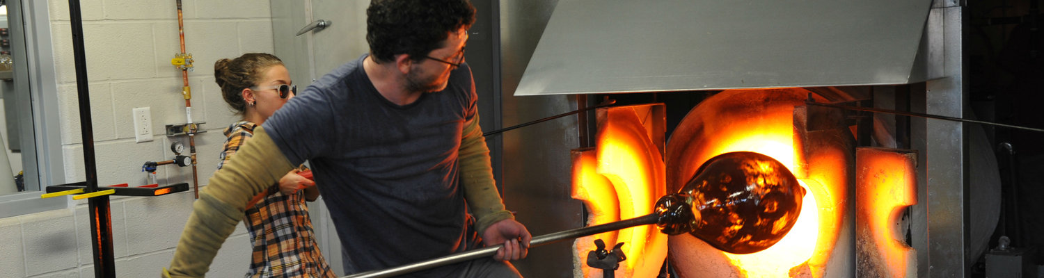 Glass Blowing Student