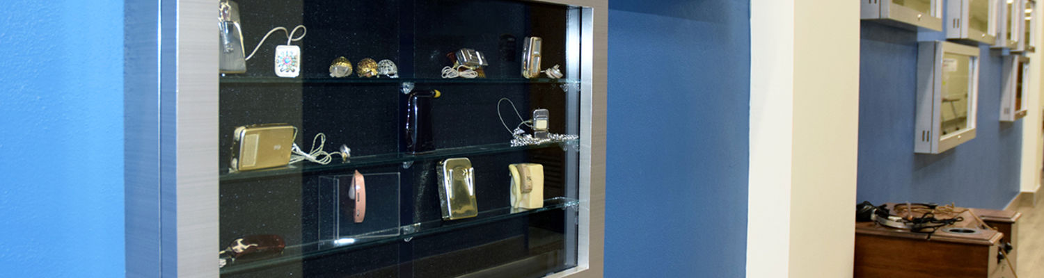 Hearing Aid Museum Display Case