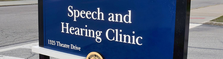 Speech & Hearing Clinic Sign