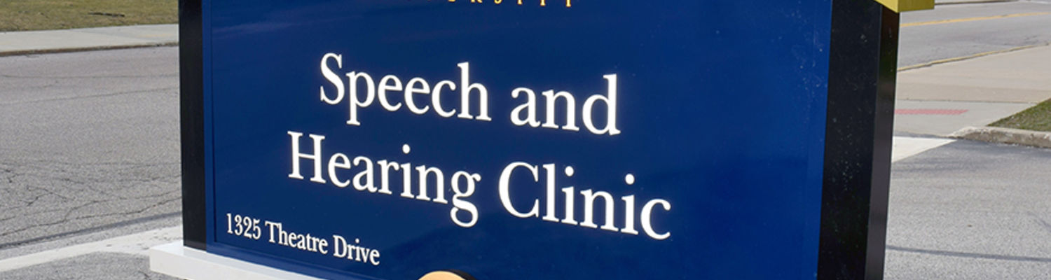 Speech & Hearing Clinic Sign