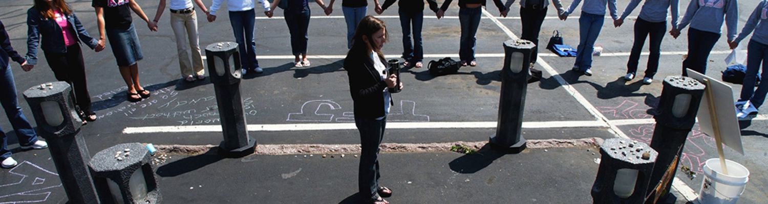 Students standing vigil on May 4
