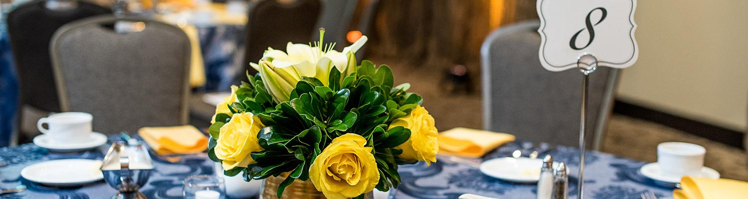 Table setting at ceremony