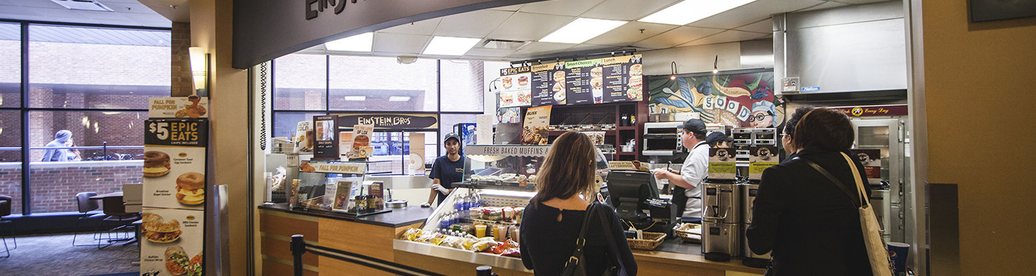 Einstein Brothers Bagels in the Student Center Hub