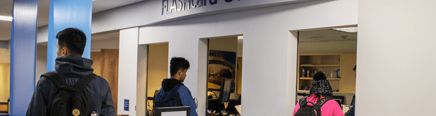 The FLASHcard Office is located in the lower level of the Kent Student Center