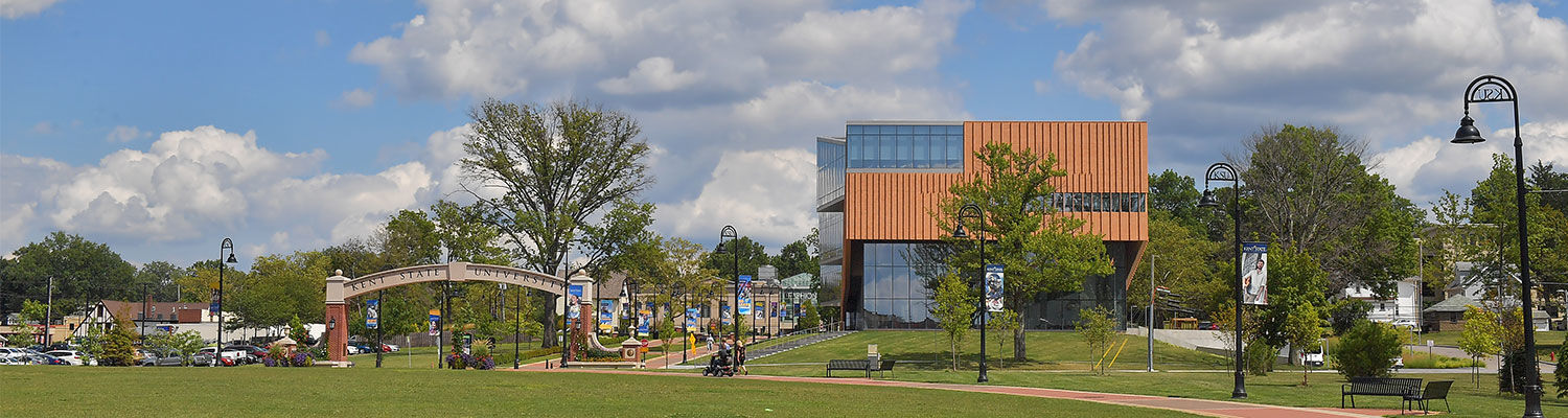 Photo of Kent State main campus, on a sunny day