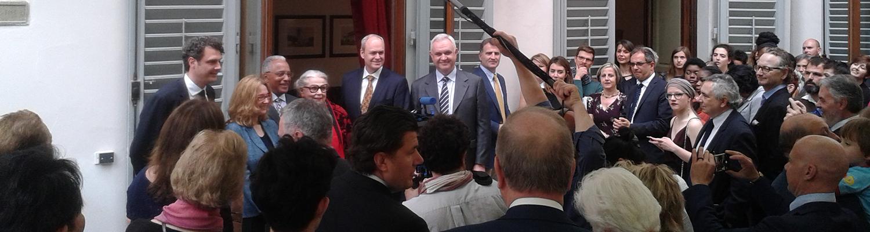 Dignitaries Gather at Grand Opening of Palazzo Vettori