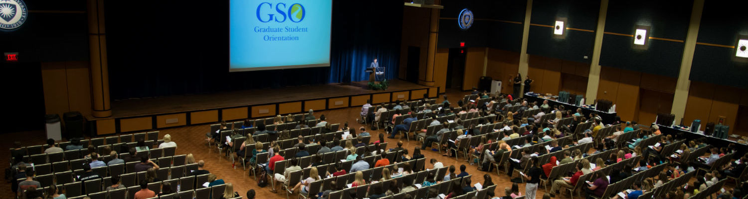 GSO Graduate Student Orientation in the Kent Student Center Ballroom