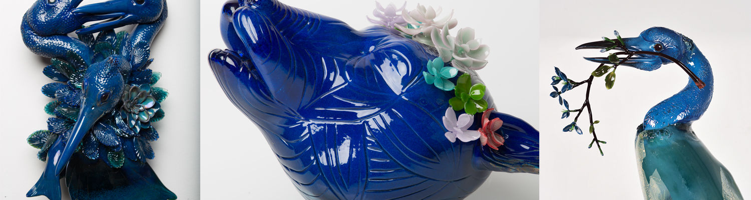 Glass artworks by Grant Garmenzy and Erin Garmezy