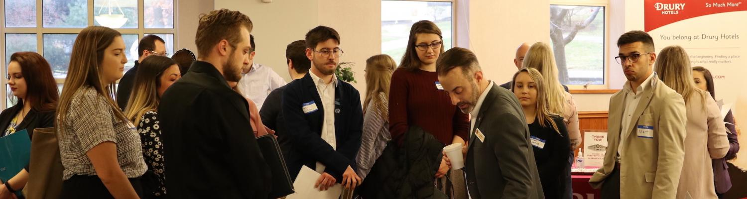 Students attending the 2020 career fair
