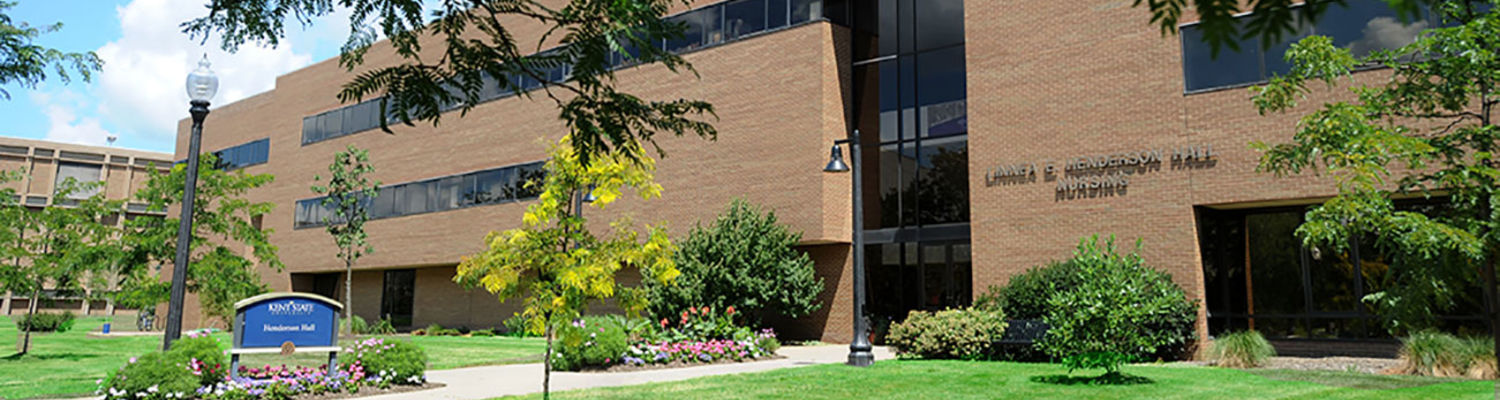 Exterior photo of Henderson Hall in the summertime