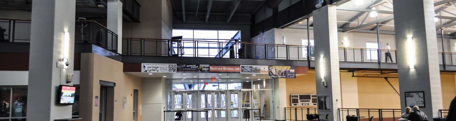 Lobby of the Student Recreation and Wellness Center