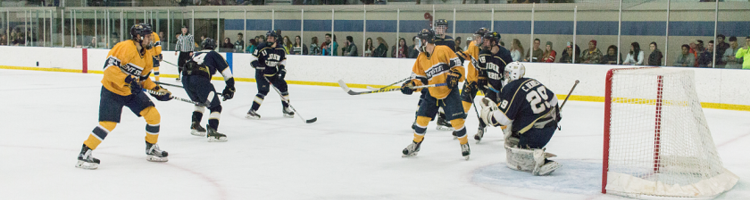 Kent State Hockey Team playing on Ice