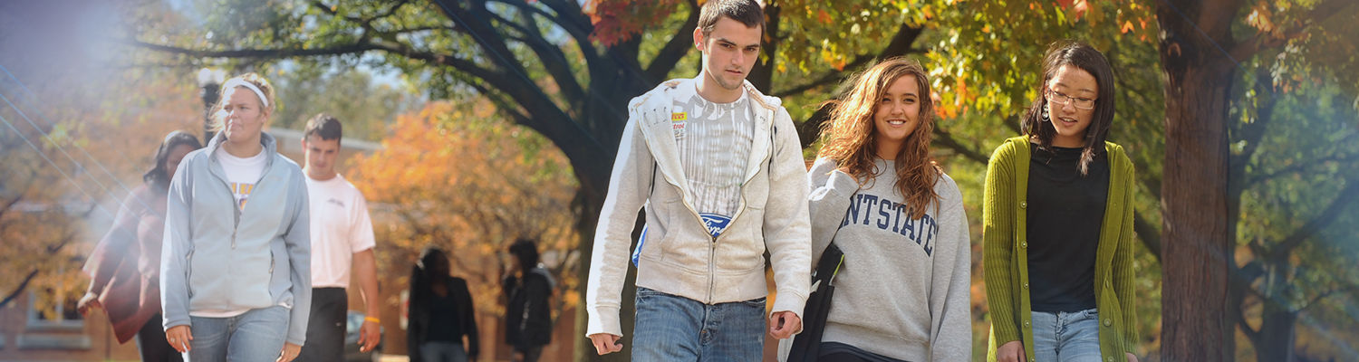 Students walking on campus