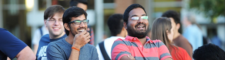 Students enjoying the outside