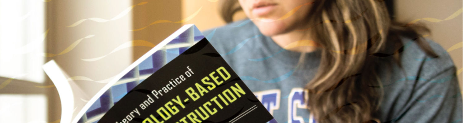 Student reading music instruction textbook