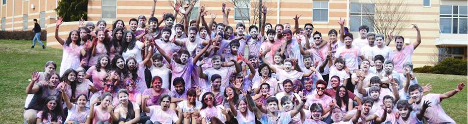 Indian Students celebrate the Holi Festival, Spring 2015