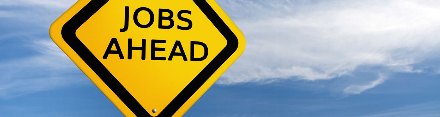 Street sign that says Jobs Ahead