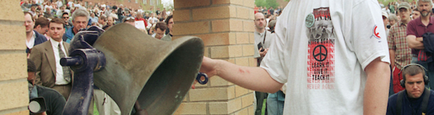 Student ringing bell on May 4