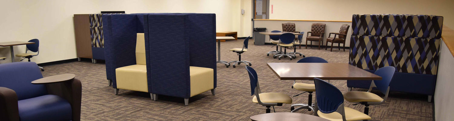 The Learning Loft is located on the top floor of the Paul Blair Memorial Library