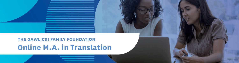Online M.A. in Translation Program