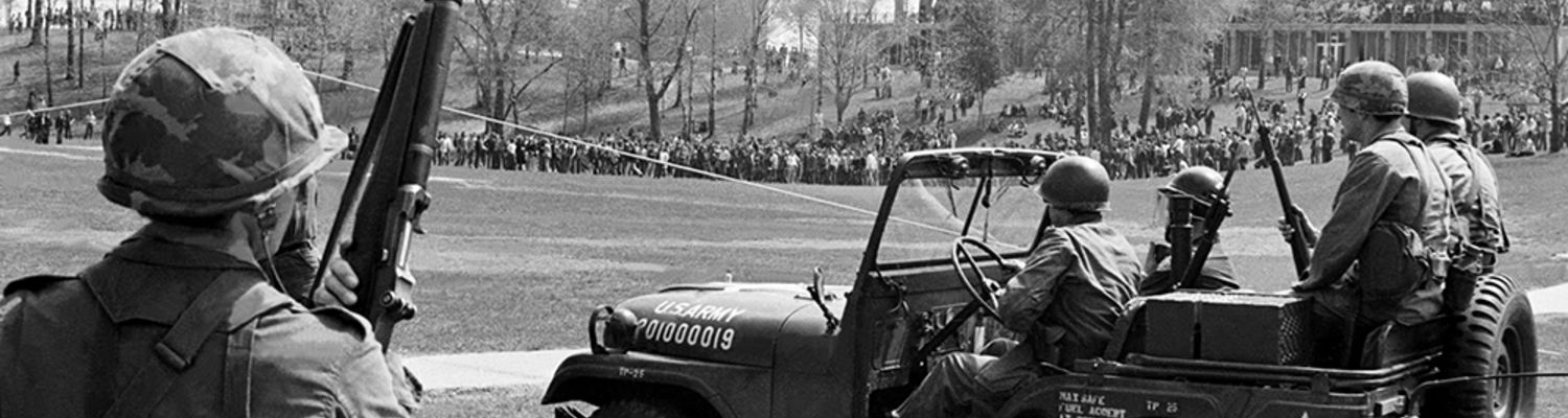 Ohio National Guard on KSU campus on May 4, 1970
