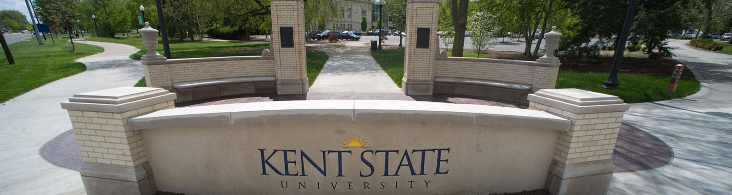 A beautiful sunny day on Kent State's Campus