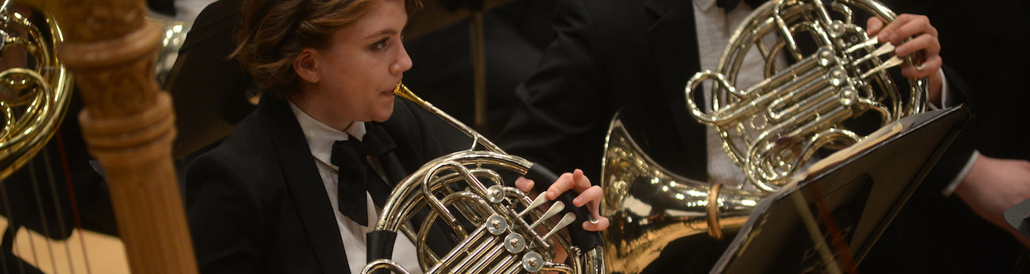 Horns in the Kent State Orchestra