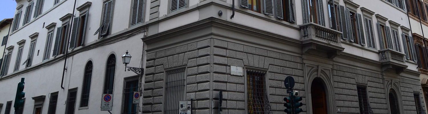 A street-level view of the Palazzo Vettori