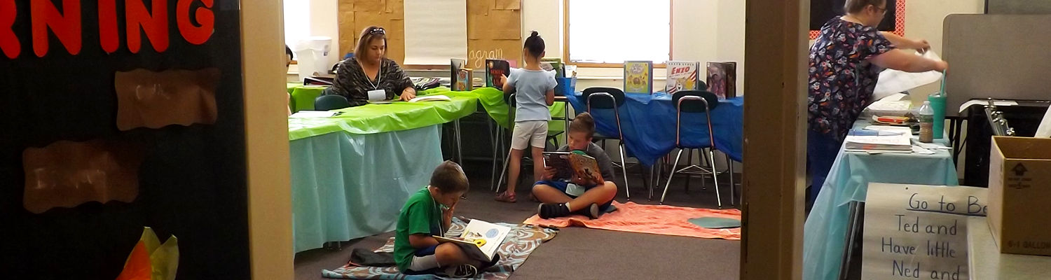 Reading time, Camp Read-A-Lot 2018