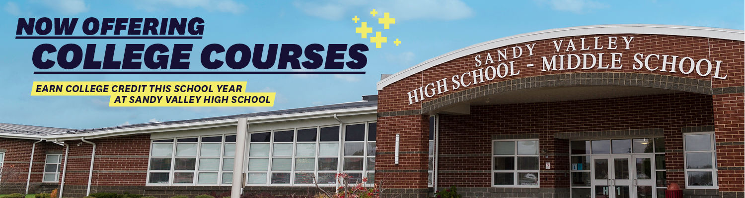 Take college classes at Sandy Valley high school.