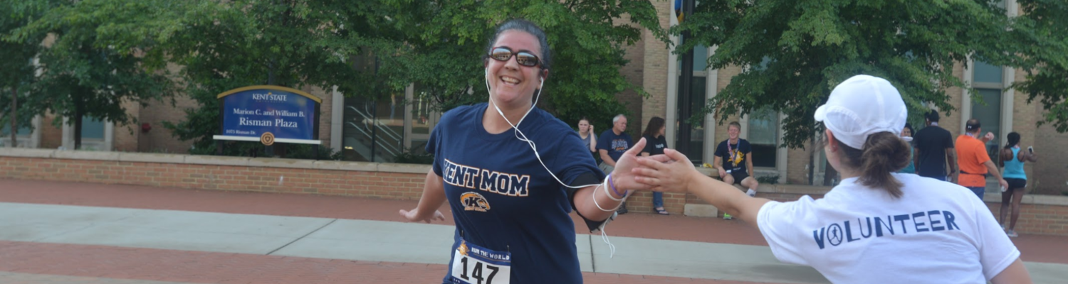 A finisher at the Run the World in Kent, 2016