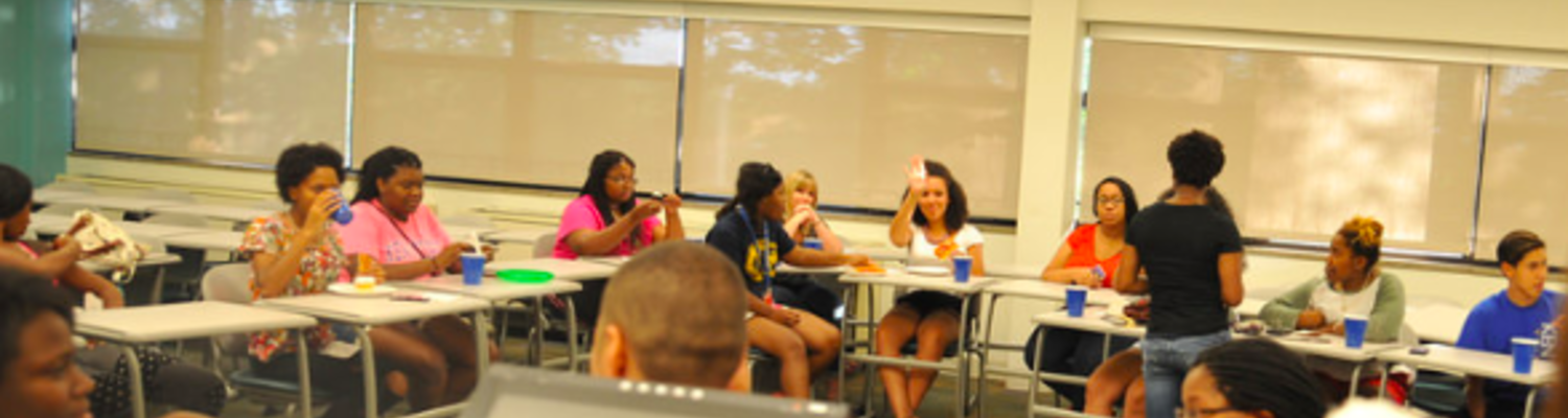 Students listening to workshop
