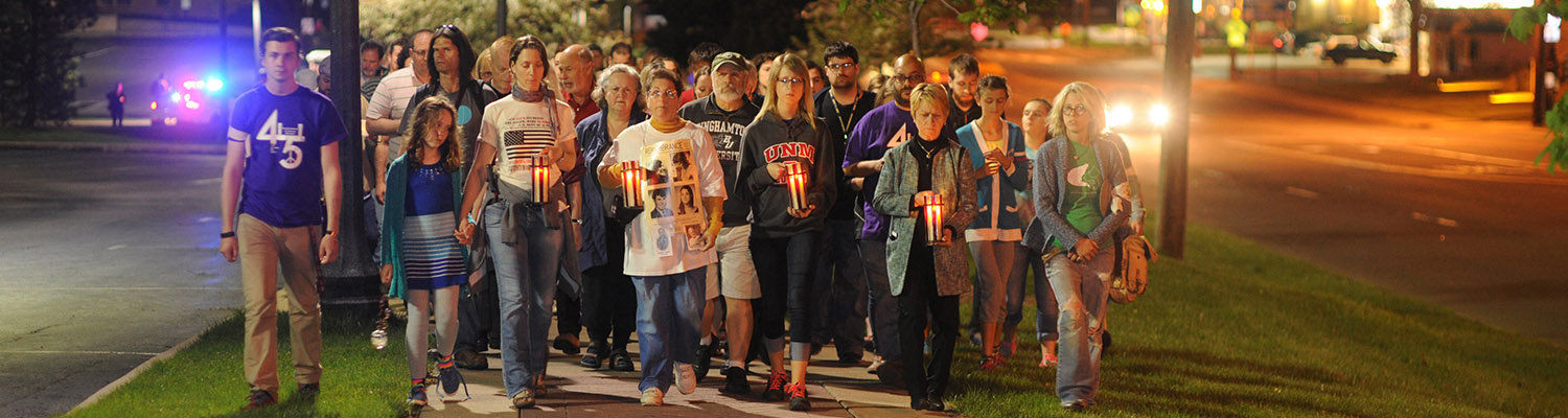 Annual Candlelight March in memory of May 4, 1970