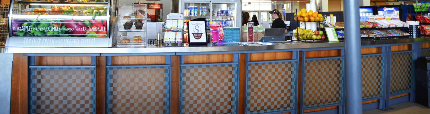 The Summit Street Cafe eatery, located in the main lobby of the Student Recreation and Wellness Center
