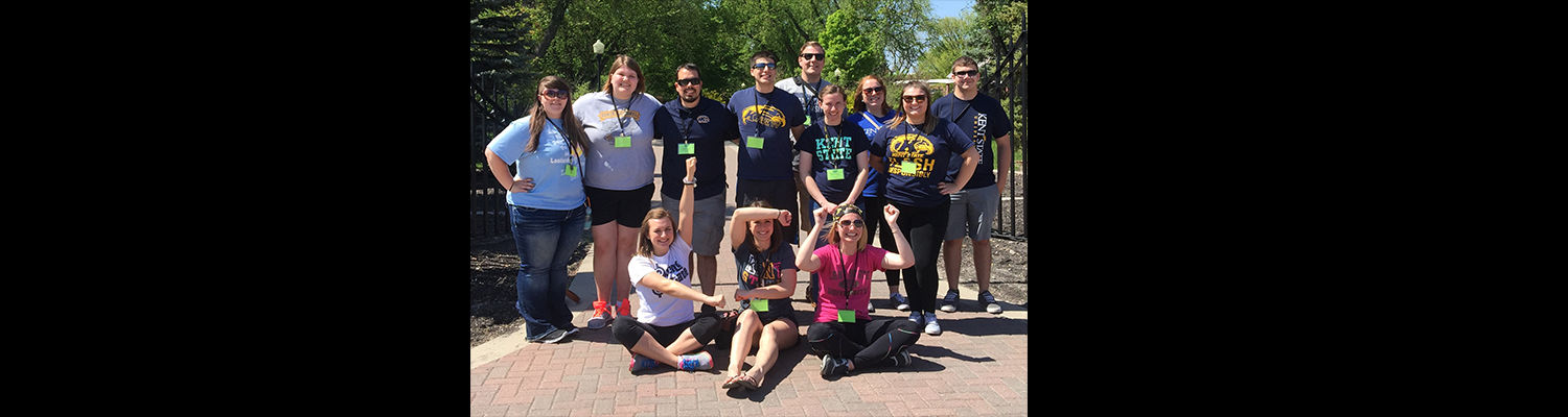 Kent State students pose for a picture at the 2015 NACURH event in North Dakota