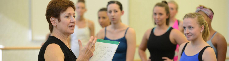 Professor Verlezza teaching a dance class
