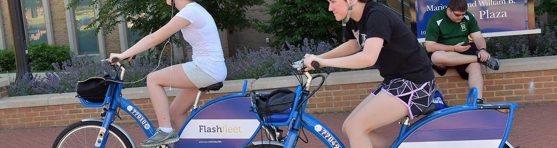 Flashfleet bikes on campus
