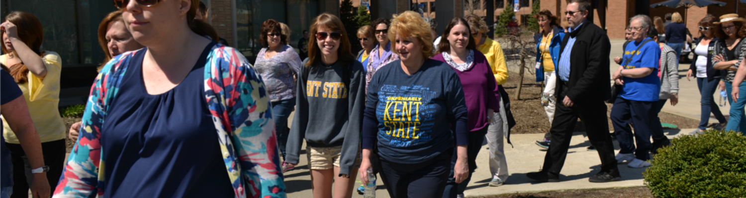 Walk and Talk for employees at Kent Campus
