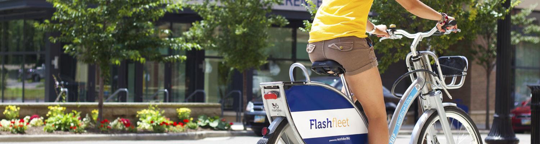 Flashfleet bike in Downtown Kent