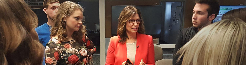 Carol Costello in newsroom