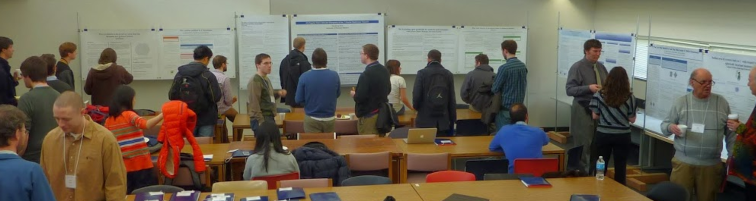 Mathematicians gather at an Informal Analysis Conference.