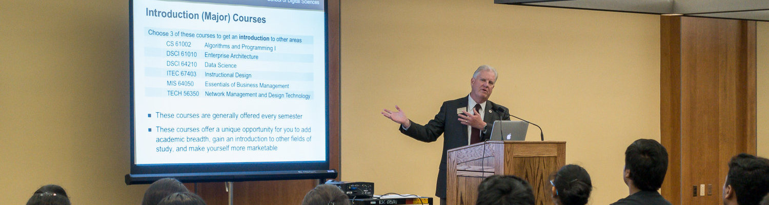 Professor Robert Walker, Ph.D., outlines the courses students may take when majoring in digital sciences.