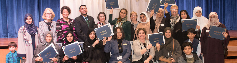 BLCSI team and female Saudi Arabian scholars at BLCSI Certificate Ceremony and Dinner on January 24, 2019.