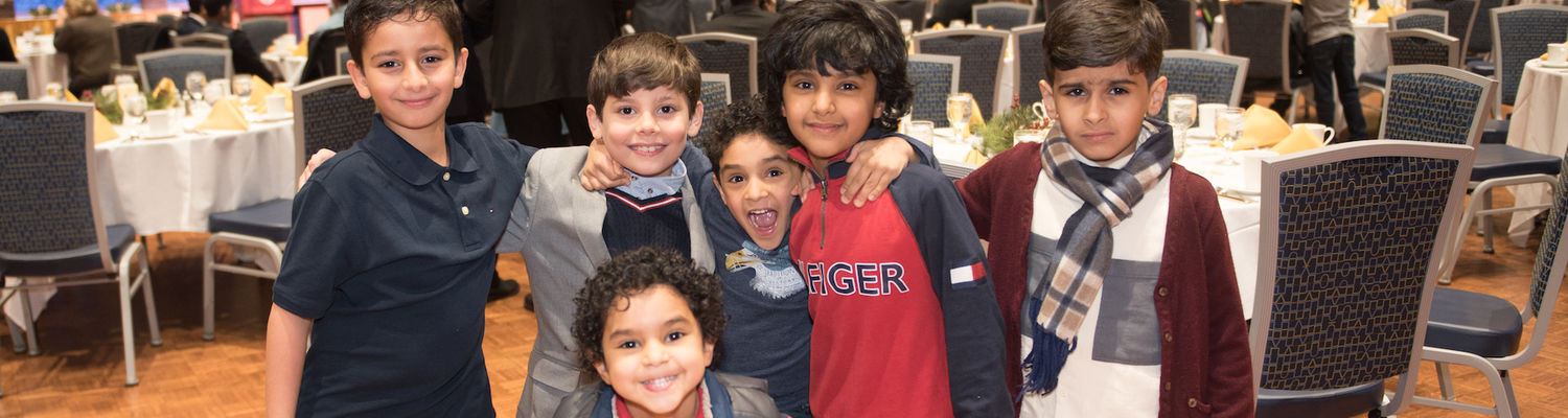 Saudi Arabian scholars' children at BLCSI Certificate Ceremony and Dinner on January 24, 2019.