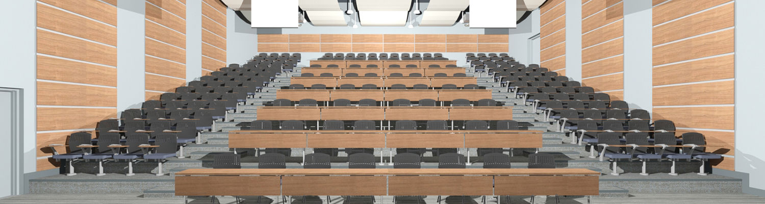 Artist Rendering of the Ashtabula Campus Main Hall Auditorium Renovation