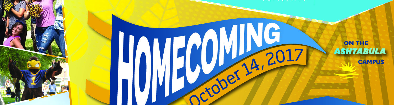 Kent State Ashtabula homecoming banner