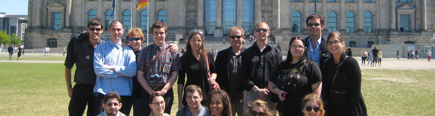Kent State students studying abroad in Germany.