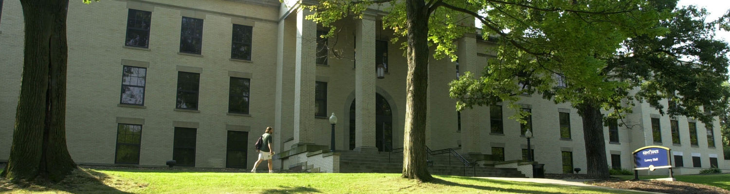 Recently renovated Lowry Hall, located on Kent State's 'Front Campus.'