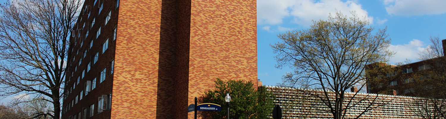 Outdoor view of McDowell Hall on a sunny day